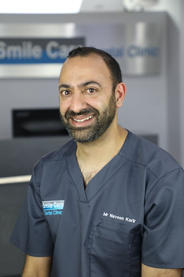 mr naveen karir consultant in restorative dentistry leicester
